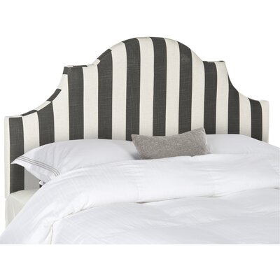 Arden Upholstered Panel Headboard Color: Black / White, Size: Queen by Beachcrest Home