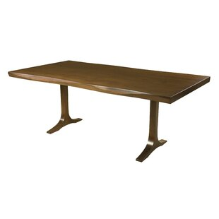 Burnished Bacher Maple Sculptured Edge Solid Wood Dining Table by Brayden Studio