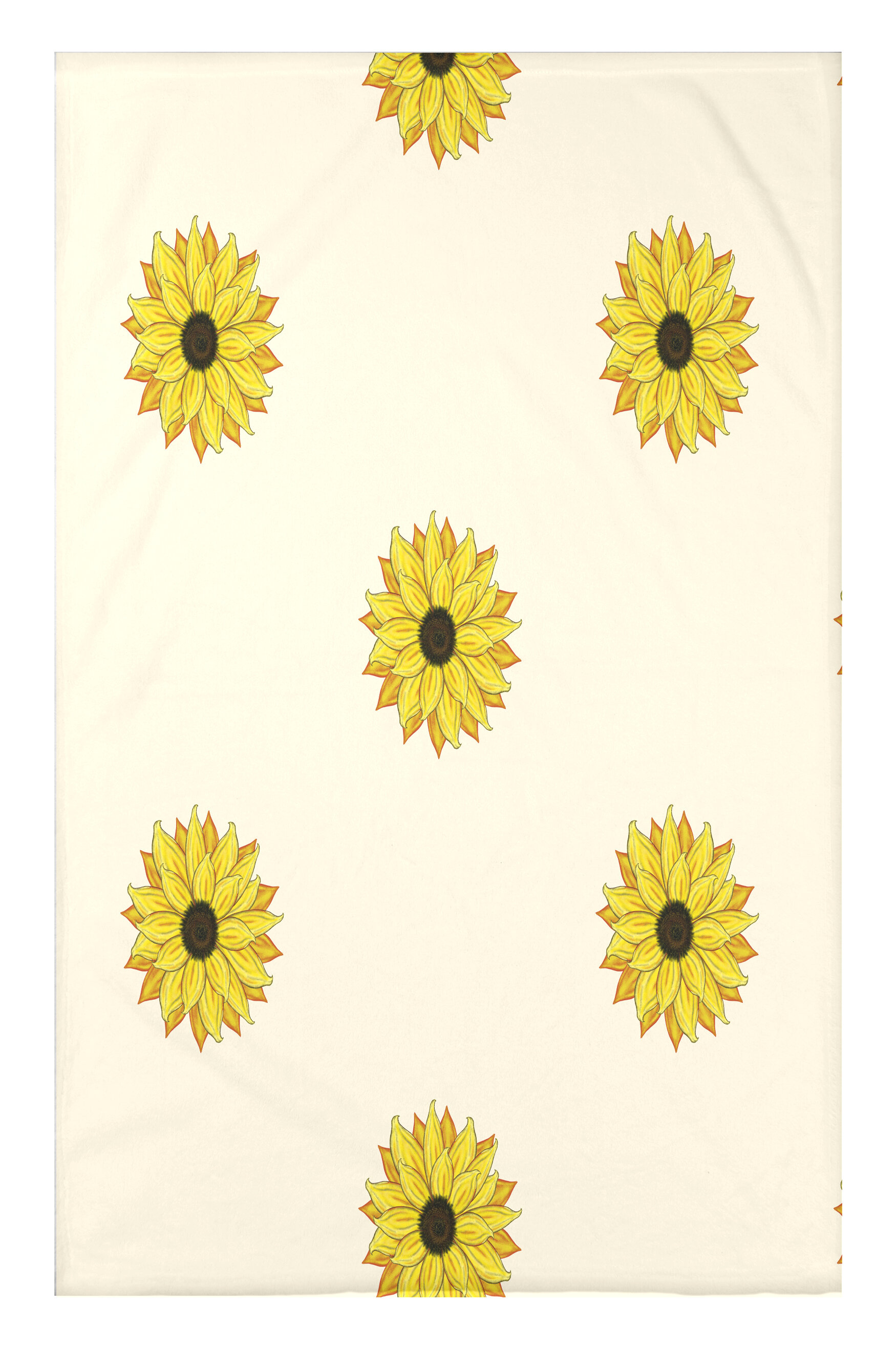 August Grove Vieux Sunflower Frenzy Flower Print Throw Blanket Wayfair
