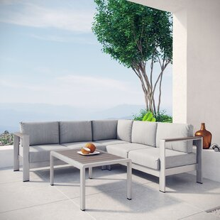 Coline 4 Piece Sectional Set with Cushions by Orren Ellis