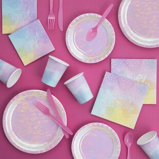 Mcintosh Birthday Paper/Plastic Party Supplies Kit By The Holiday Aisle