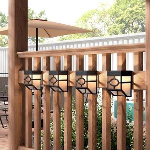 Ebern Designs Cullens 4-Light Fence Post Cap (Set of 4)