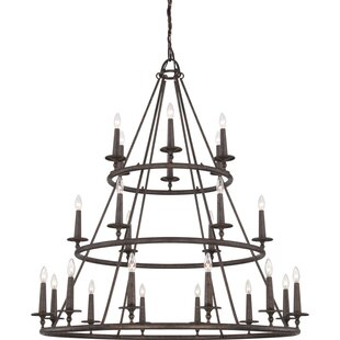 Greyleigh Auxvasse 24-Light Wagon Wheel Chandelier