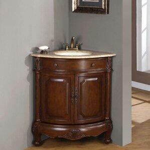 Hannah 32  Single Sink Cabinet Bathroom Vanity SetSilkroad Exclusive   Wayfair. Silkroad Exclusive Travertine Stone Top 29 Inch Bathroom Vanity. Home Design Ideas