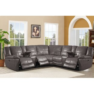 Latitude Run Winkfield Leather Reclining Sectional