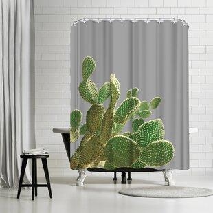 East Urban Home Emanuela Carratoni Minimal Cactus Shower Curtain