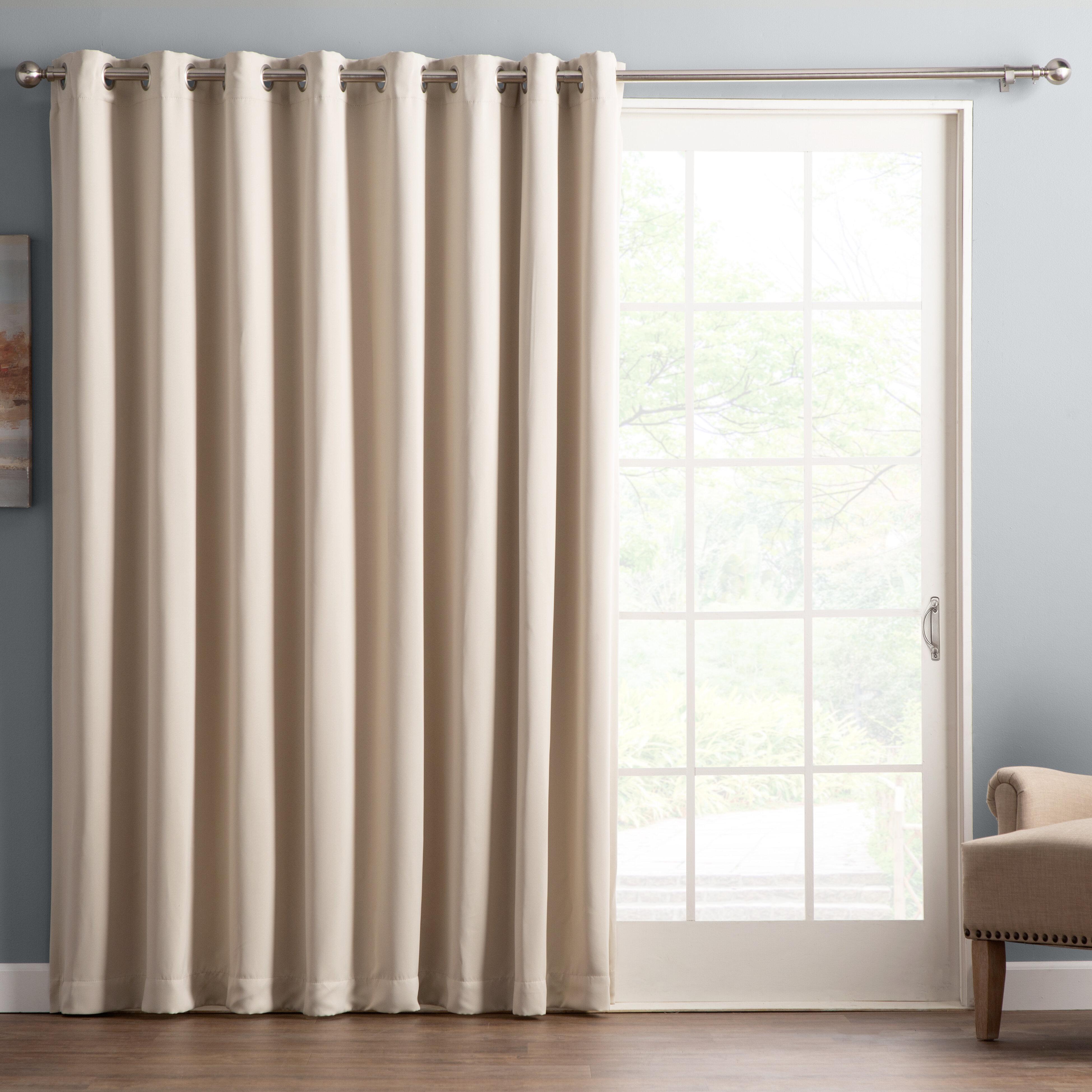 Wayfair Basics Solid Blackout Thermal Grommet Single Curtain Panel