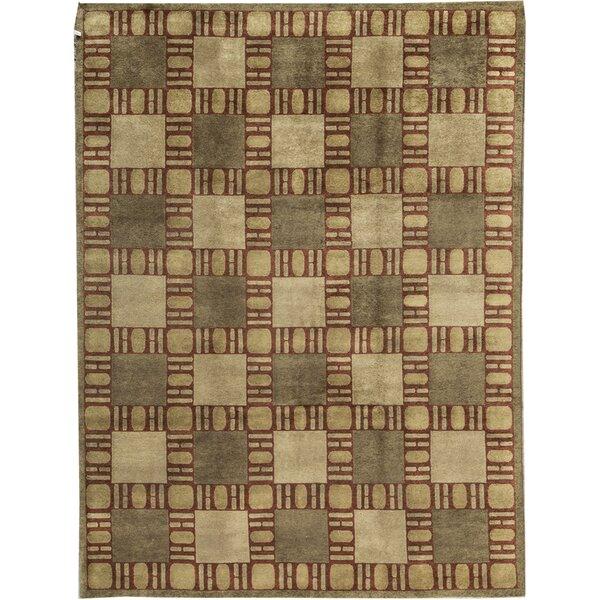 Bokara Rug Co Inc Himalayan Geometric Hand Knotted Wool Red Area Rug