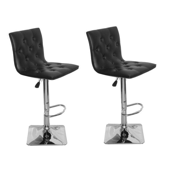 Fantastic Ilene Adjustable Height Swivel Bar Stool Creativecarmelina Interior Chair Design Creativecarmelinacom