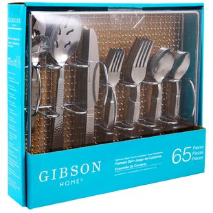 Prato 65 Piece 18/10 Stainless Steel Flatware Set, Service for 12