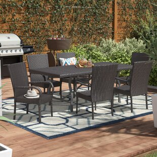 Connery Phelps Wicker 7 Piece Dining Set ..