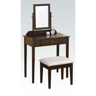 Alcott Hill Alvardo Vanity Set with Mirror