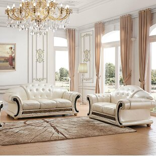 Coupon Forde 2 Piece Leather Living Room Set by House of Hampton Reviews (2019) & Buyer's Guide