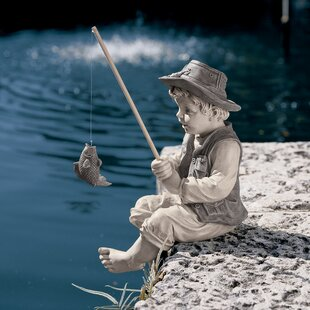 Fisherman Statue Wayfair