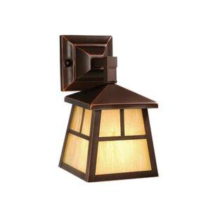 Comparison Joelle 1-Light Outdoor Wall Lantern By Loon Peak