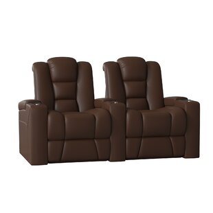 Home Theater Row Curved Seating (Row of 2) by Latitude Run
