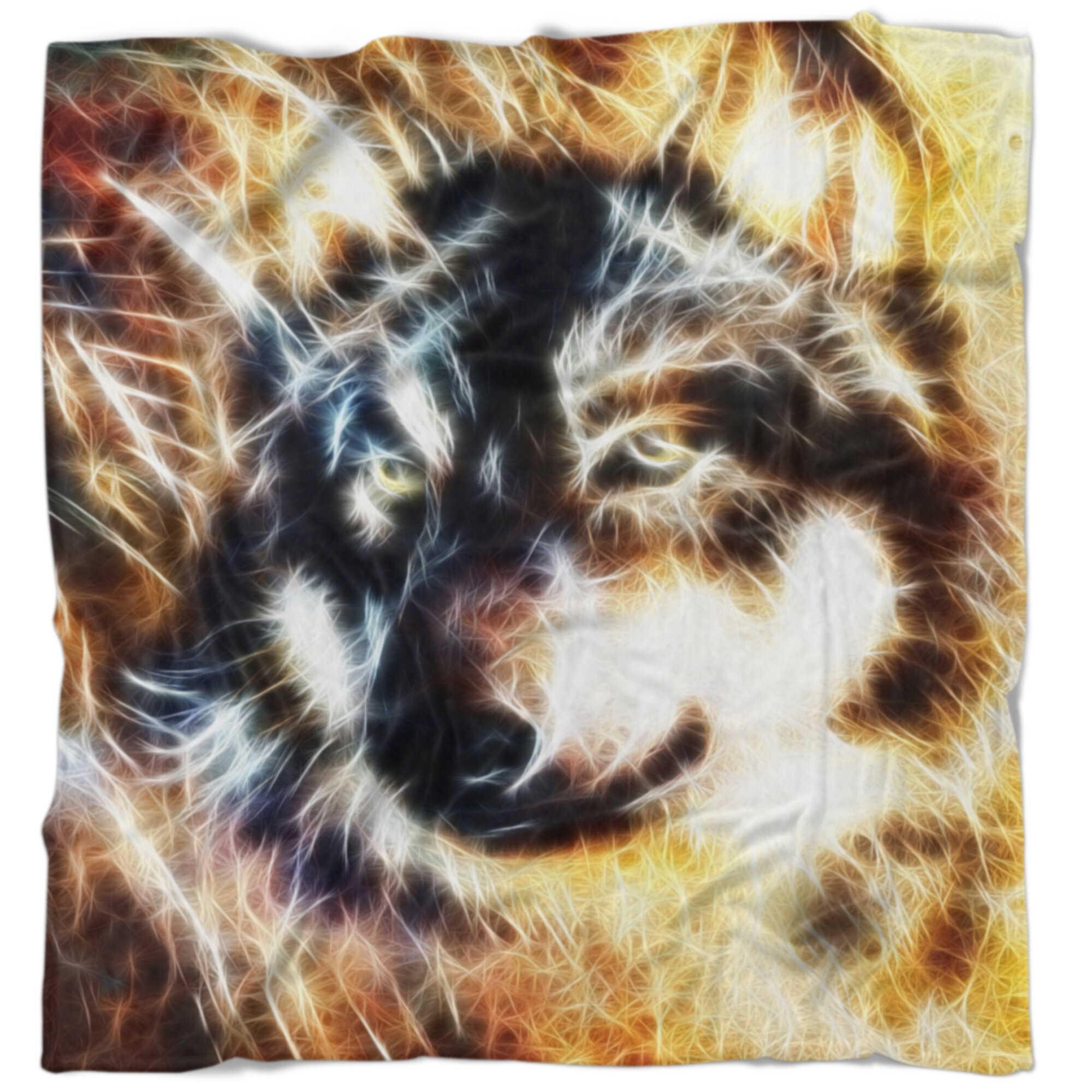 East Urban Home Abstract Wolf Collage Blanket Wayfair