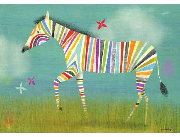 Zoomie Kids Mcgowan Zebra Canvas Art Reviews Wayfair