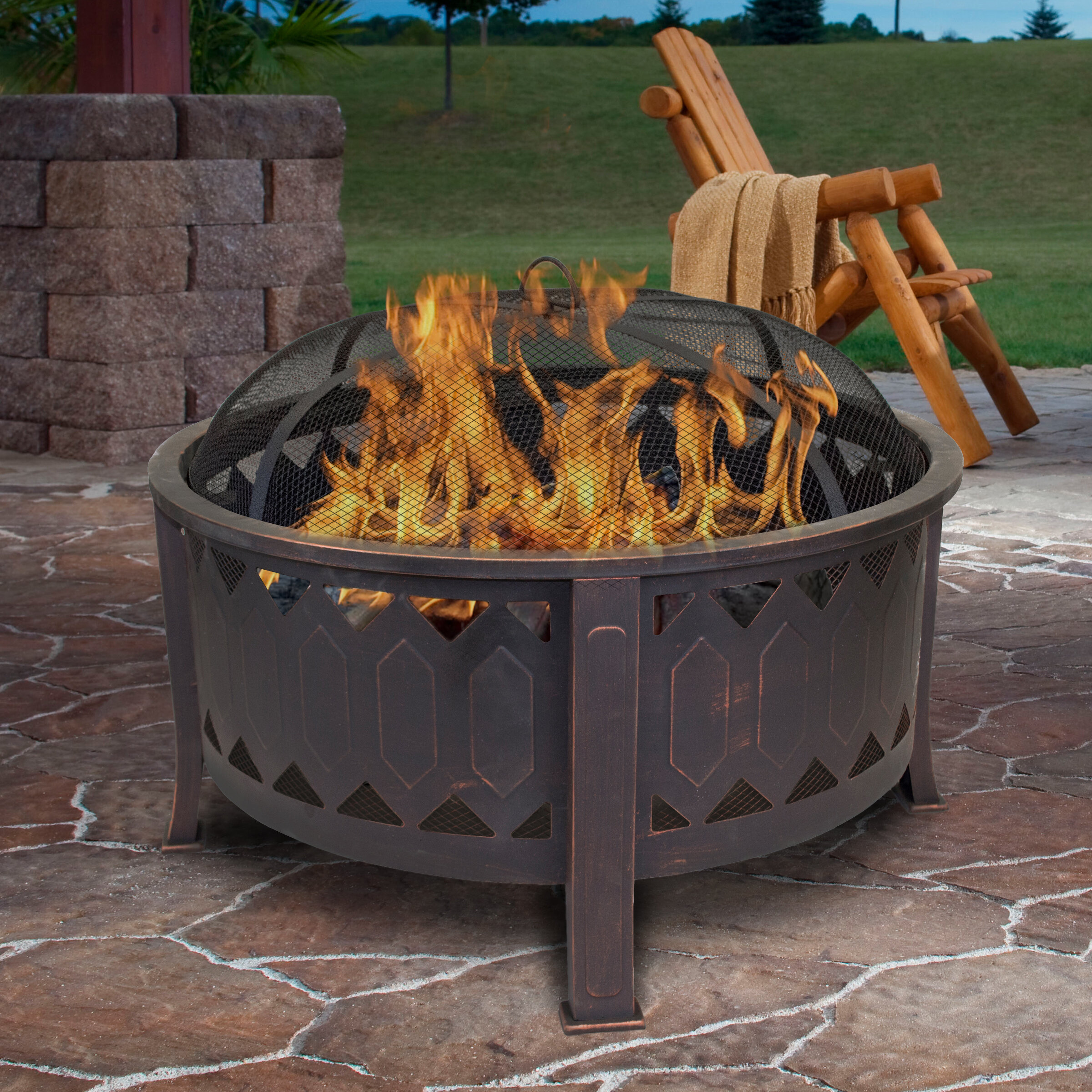 Outdoor Leisure Products Steel Wood Burning Fire Pit Reviews Wayfair
