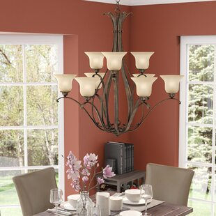 Three Posts Enfield 9-Light Shaded Chandelier