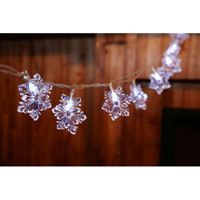 Snowflake Christmas Lights.20 Light 160 Inches Snowflake String Lights