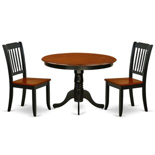 Landaverde 3 Piece Solid Wood Dining Set