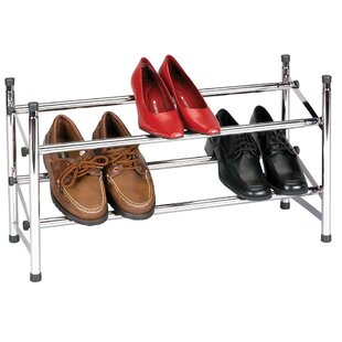 Best Price Sliding Rods 2-Tier Shoe Rack By Household Essentials