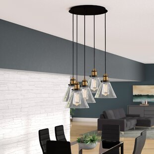 Reviews Eve 5-Light Cluster Pendant By Langley Street