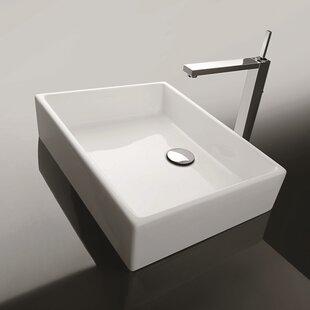 Find Ceramica II Unlimited Ceramic Ceramic Rectangular Vessel Bathroom Sink ByWS Bath Collections