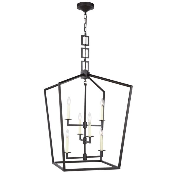 6 Light Lantern Geometric Chandelier Reviews Joss Main
