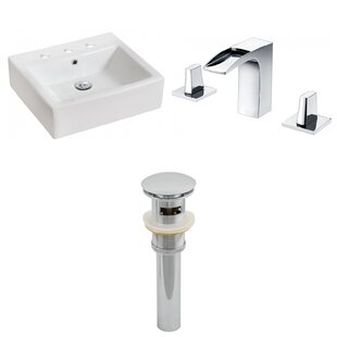 Top Reviews Above Counter Ceramic Rectangular Vessel Bathroom Sink with Faucet and Overflow ByRoyal Purple Bath Kitchen