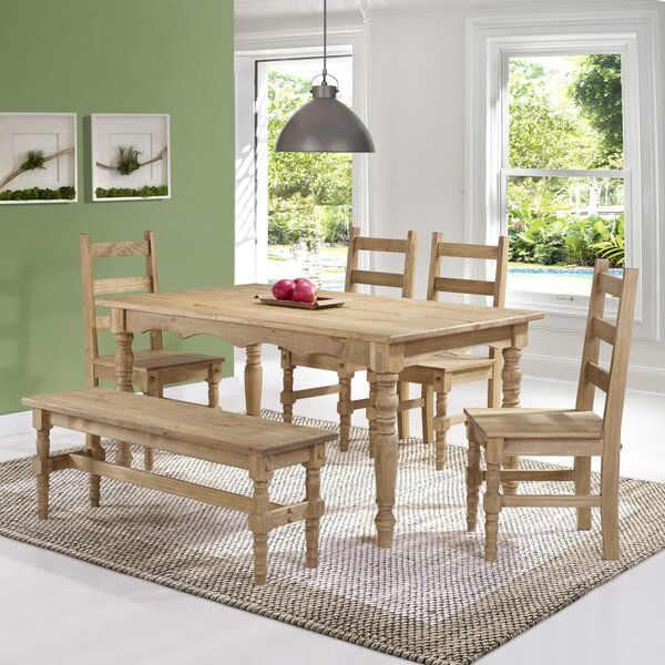 Gracie Oaks Robertson Solid Wood 6 Piece Dining Set