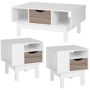 Ebern Designs Kiro 3 Piece Coffee Table Set