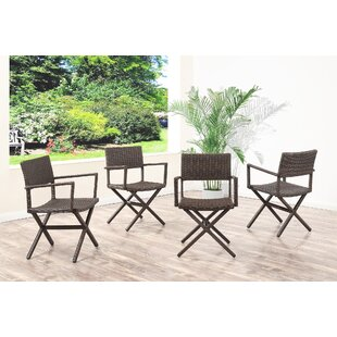 Barta Wicker Patio Dining Chair (Set of 4) by Brayden Studio