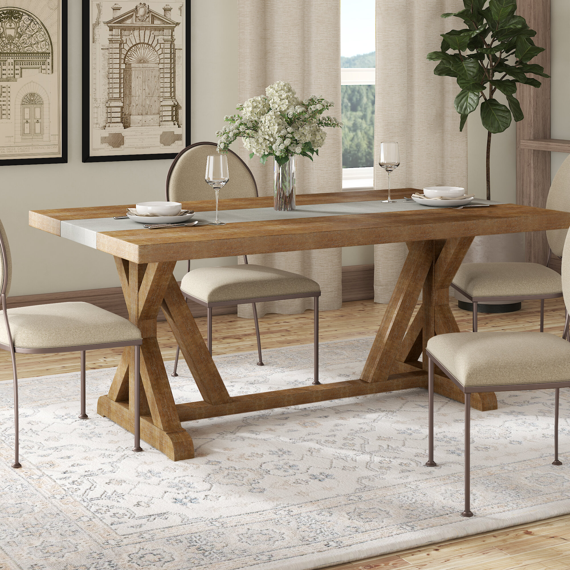 Farmhouse Cottage Country Large Kitchen Dining Tables You Ll Love In 2020 Wayfair