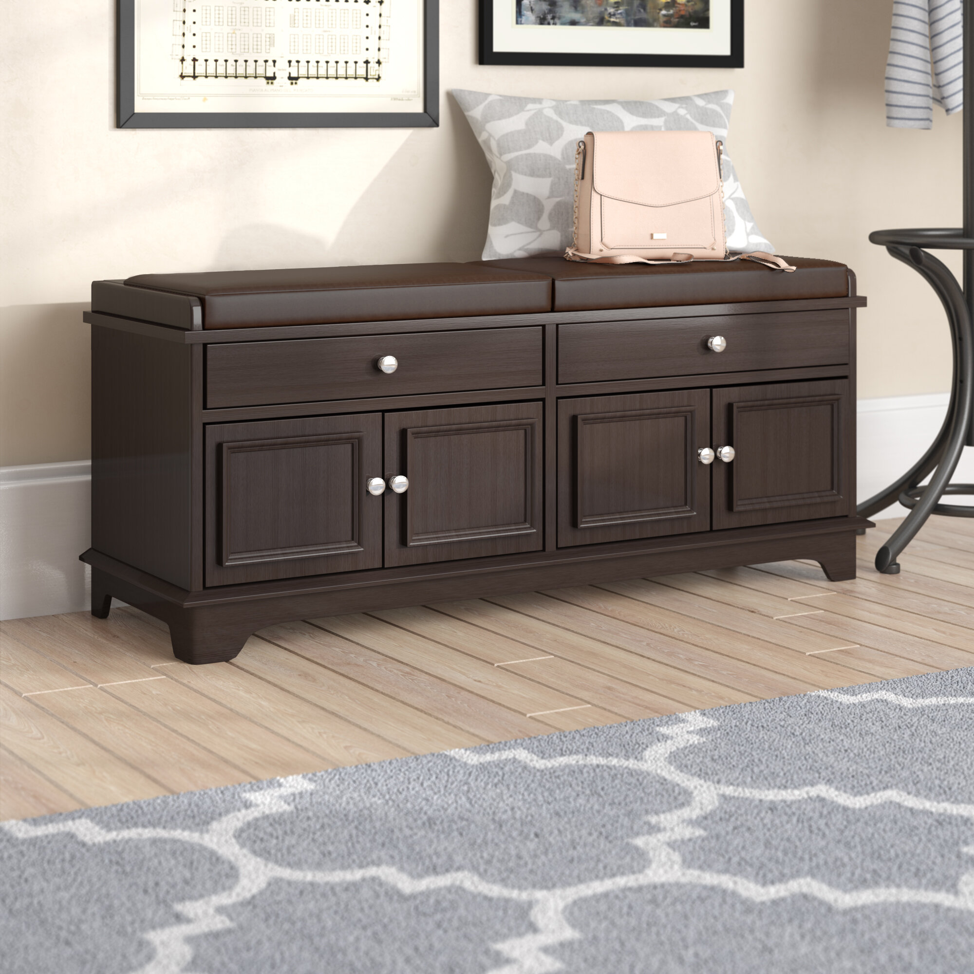 Brilliant Charlton Home Penbrook Upholstered Storage Bench Reviews Pdpeps Interior Chair Design Pdpepsorg