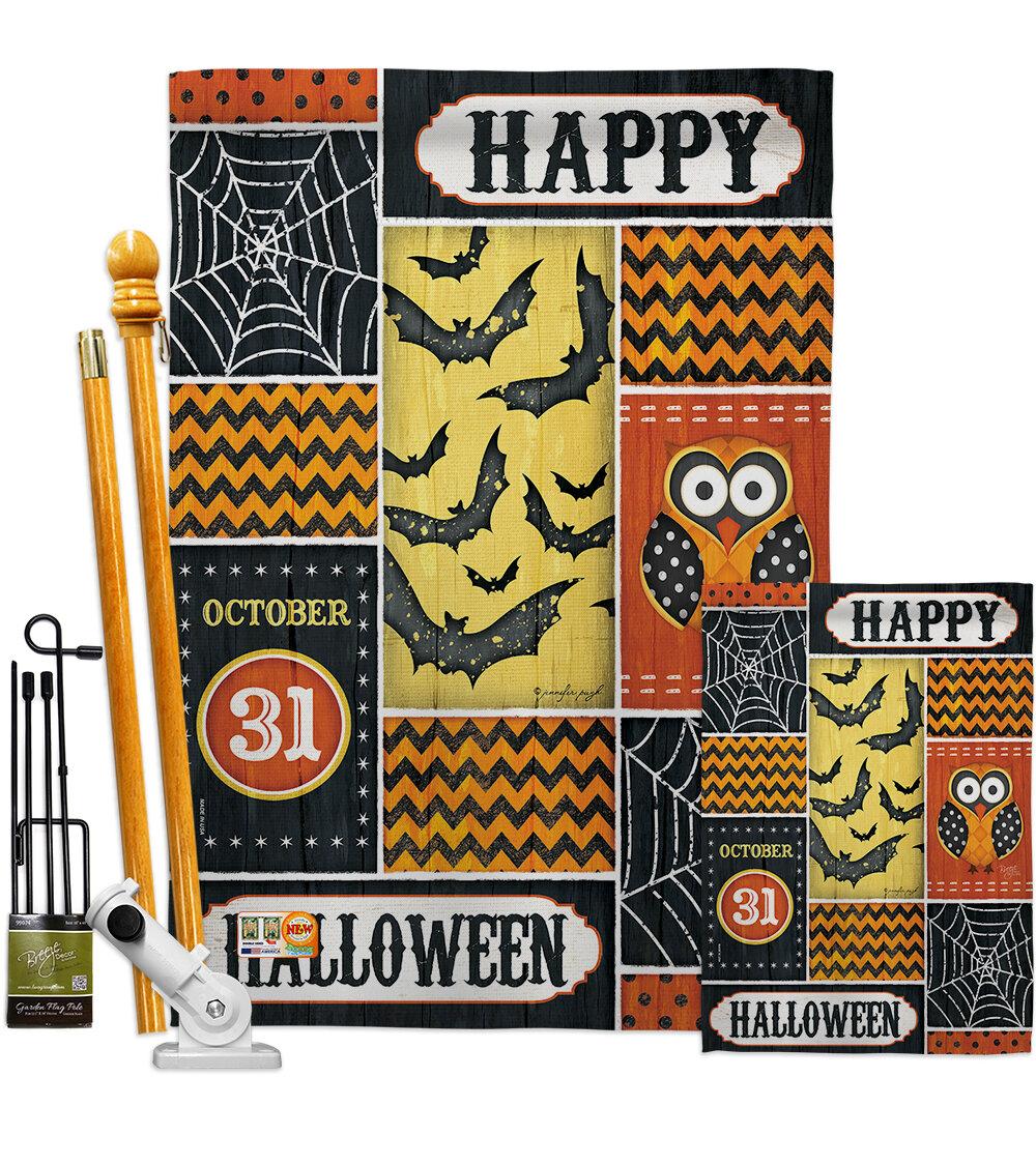 Breeze Decor Halloween Happy Impressions Decorative 2 Sided Polyester 40 X 28 In Flag Set Wayfair