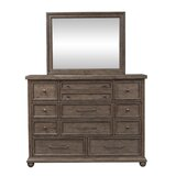 11 Drawer Dresser with Mirror by Gracie Oaks