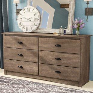 Laurel Foundry Modern Farmhouse June 6 Drawer Double Dresser