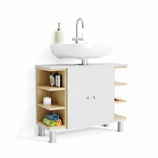 Gravette 80cm Wall Mounted Under Sink Storage Unit By Mercury Row