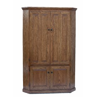 47 Lapierre 4 Panel Door Corner Armoire Desk by Loon Peak