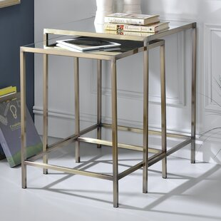 Comparison Danyel 2 Piece Nesting Table by Everly Quinn