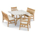 Natural Myres 5 Piece Dining Set with Cushions