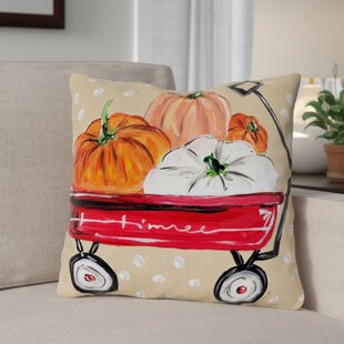 Fall Wagon Throw Pillow