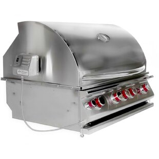 Convection 4-Burner Built-In Propane Gas Grill By Cal Flame