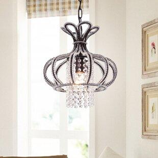 House of Hampton Mcginn 1-Light Crystal Pendant