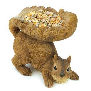 Zingz & Thingz Squirrely Wildlife Decorative Tray Bird Feeder