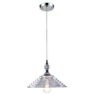 Orren Ellis Alexa Pyramid Crystal 1-Light..