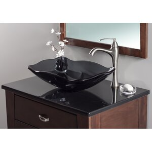 Oblong Glass Rectangular Vessel Bathroom Sink