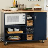 Drolet Kitchen Cart Solid Wood by Ebern Designs